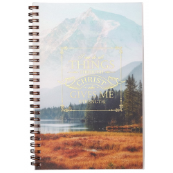 Engels, Gifts, Notebook, All Things Through Christ